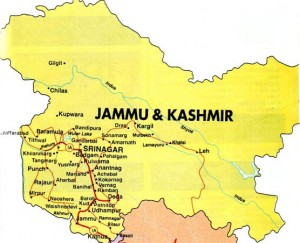 Jammu Kashmir Location Map