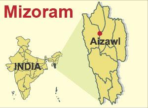 Mizoram Location
