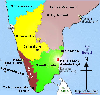 Latest India Map.Pondicherry Travel Maps Pondicherry India Free Online Tourist Maps