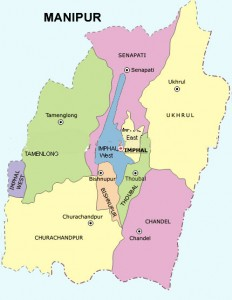 Manipur Map - District and Cities