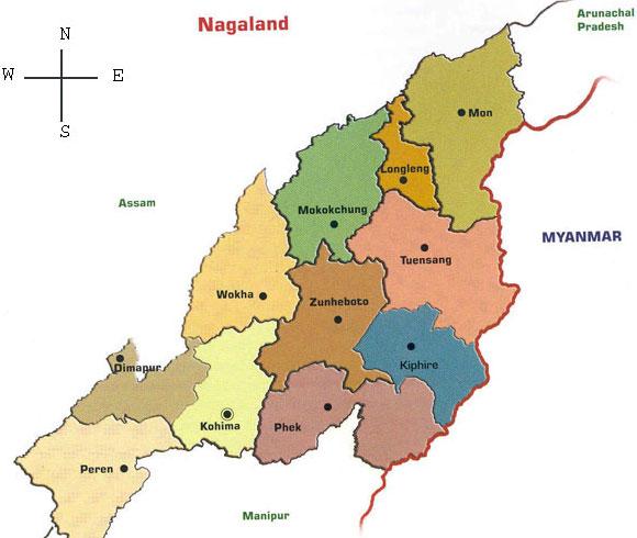 Nagaland District map