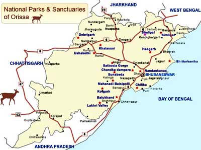 National parks and Wildlife Sanctuary of Orissa