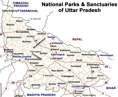 Uttar Pradesh National Parks and Wildlife Sanctuary