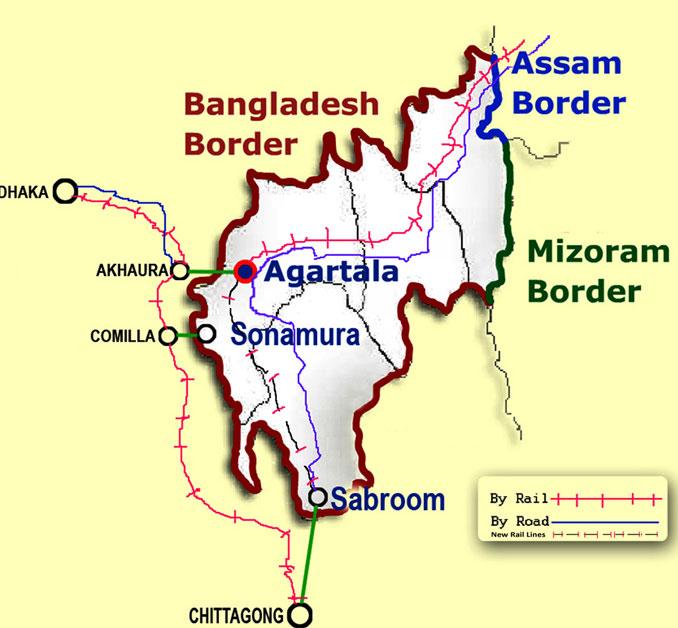 Train and Rail network in Tripura