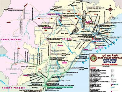Orissa Railway Network