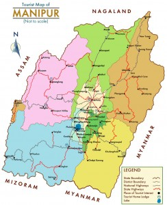Tourist Map of Manipur