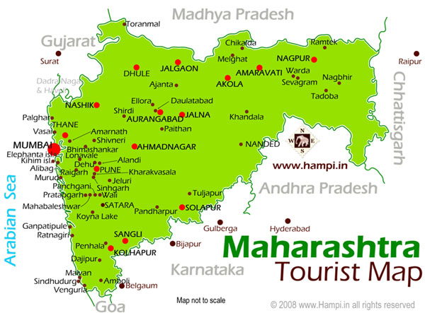 Maharasthra Tourist Map