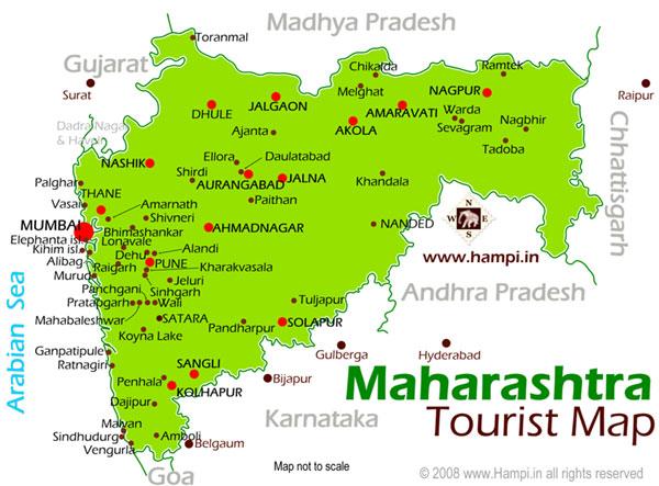 Maharashtra Tourism Map Maharashtra Tourist Maps Maharashtra Travel Maps Maharashtra