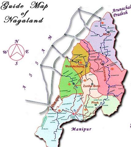 Nagaland Tourist Travel Map