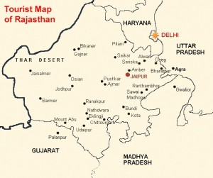 Rajasthan Travel Map