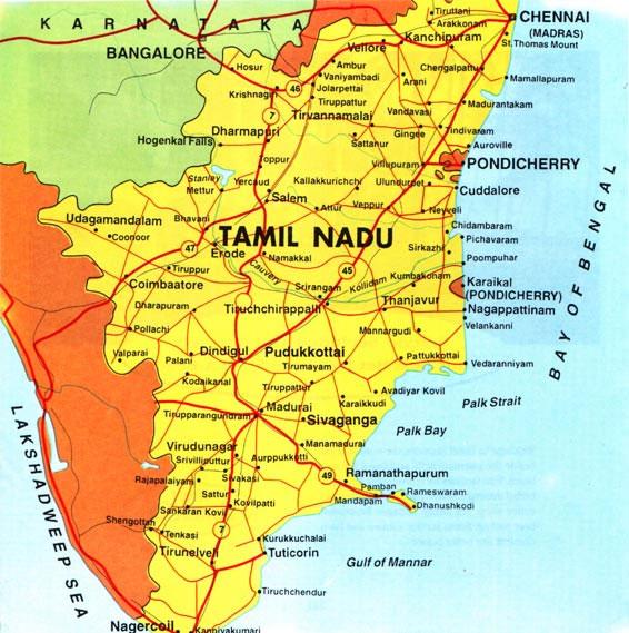 route map of tamilnadu Tamil Nadu Tourist Maps Tamil Nadu Travel Maps Tamil Nadu Google route map of tamilnadu