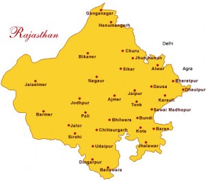 Rajasthan Important Tourist Places Map