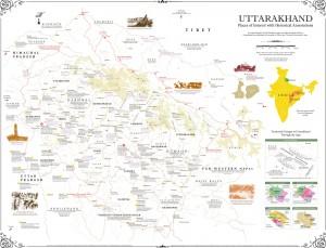 History Map of Uttarakhand (Uttaranchal)