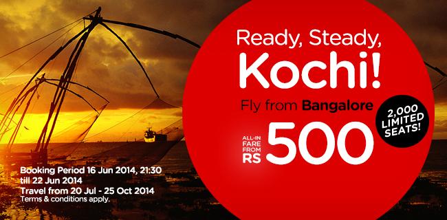 Bangalore to Kochi Flights from AirAsia India