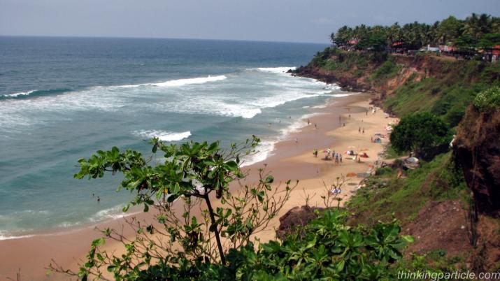 Varkala beach from the cliff