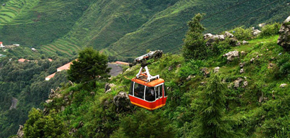 Gun Hill Rope Way Ride,  Mussoorie