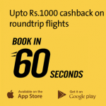 Get Upto Rs 1000 Cashback On Domestic Roundtrip Flights From Cleartrip