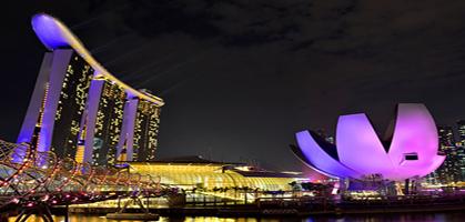 Marina Bay waterfront light show