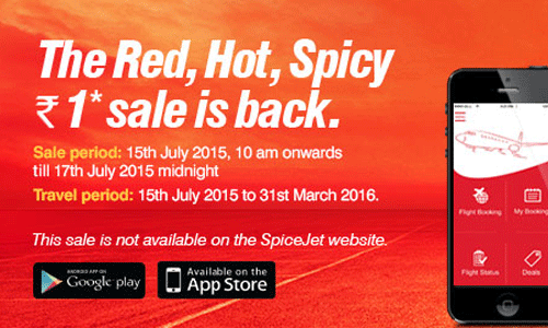 Spice Jet Offers Red Hot Spicy Sale