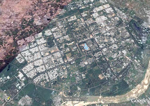 Aerial View of Gandhinagar