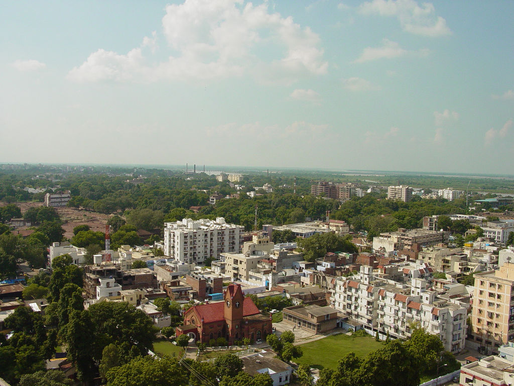 Aerial view of Kanpur City