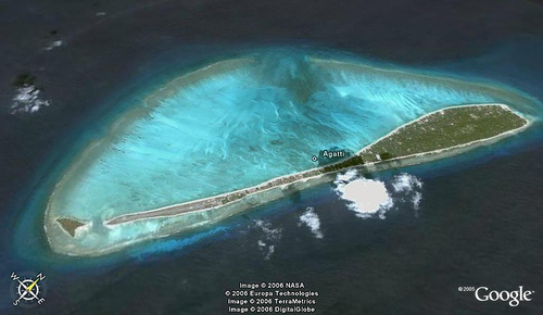 Aeriel View of Agatti Island