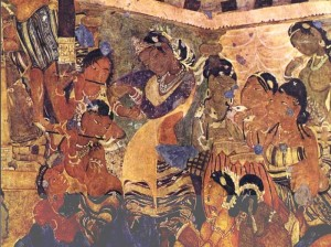 Ajanta Cave painting - Painting & Dance
