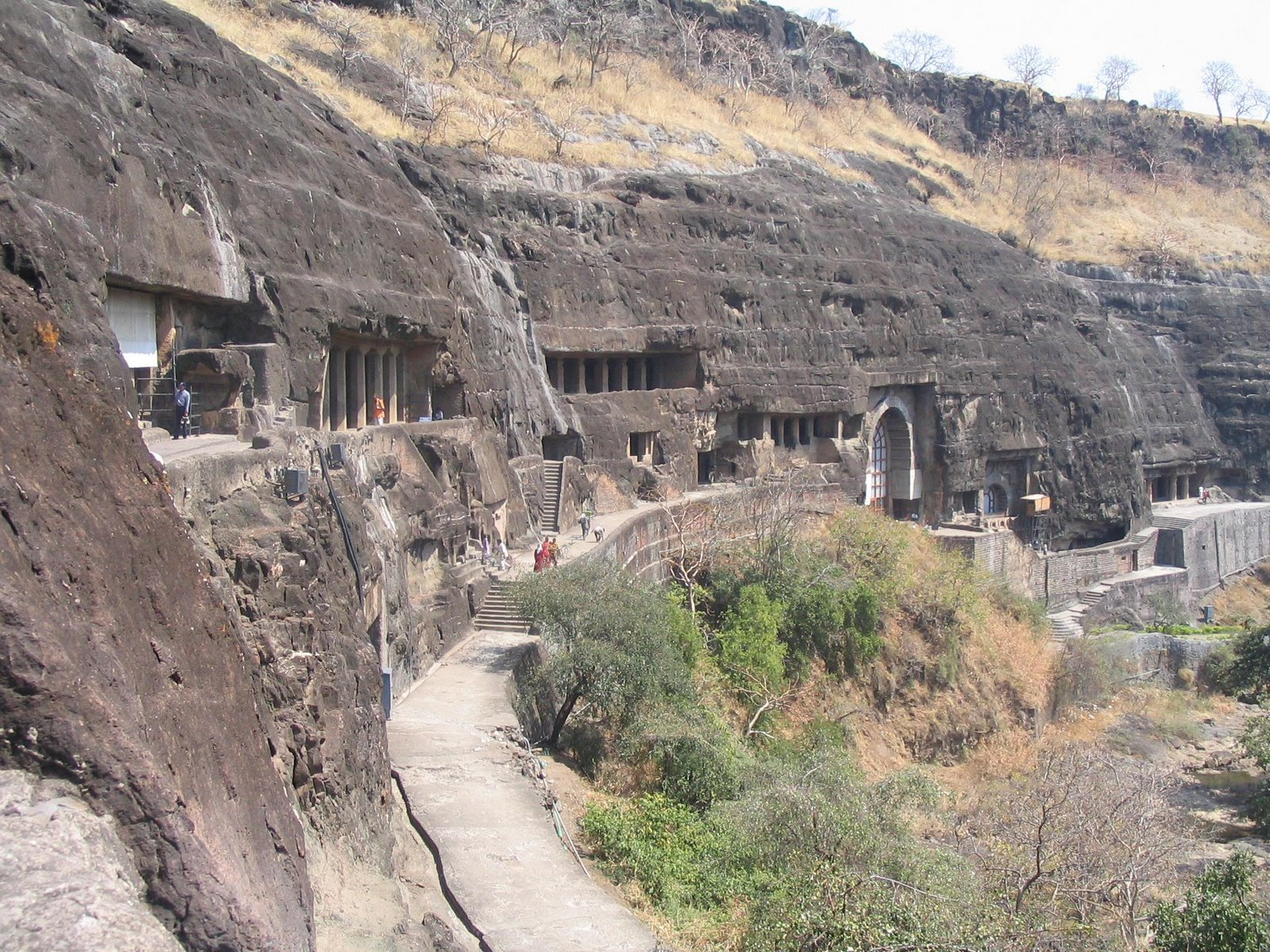 Ajanta Caves View