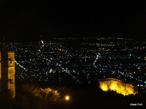 Alwar View from Fort At Night