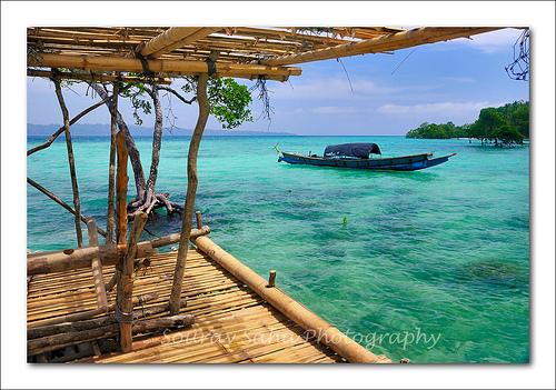 Bamboo Boat at Andaman