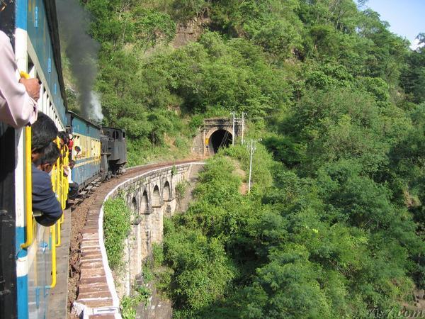 Coonoor Steam Train Crossing a Bridge