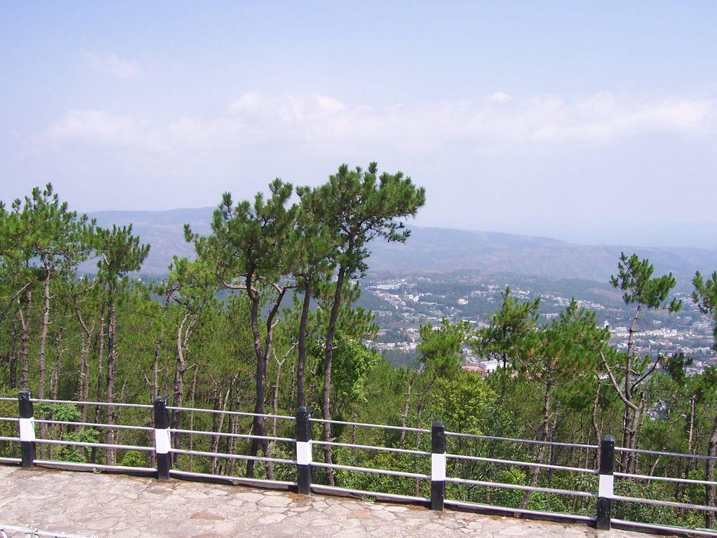 Shillong city from shillong peak
