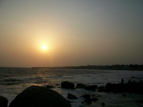 Sunset at Kanyakumari