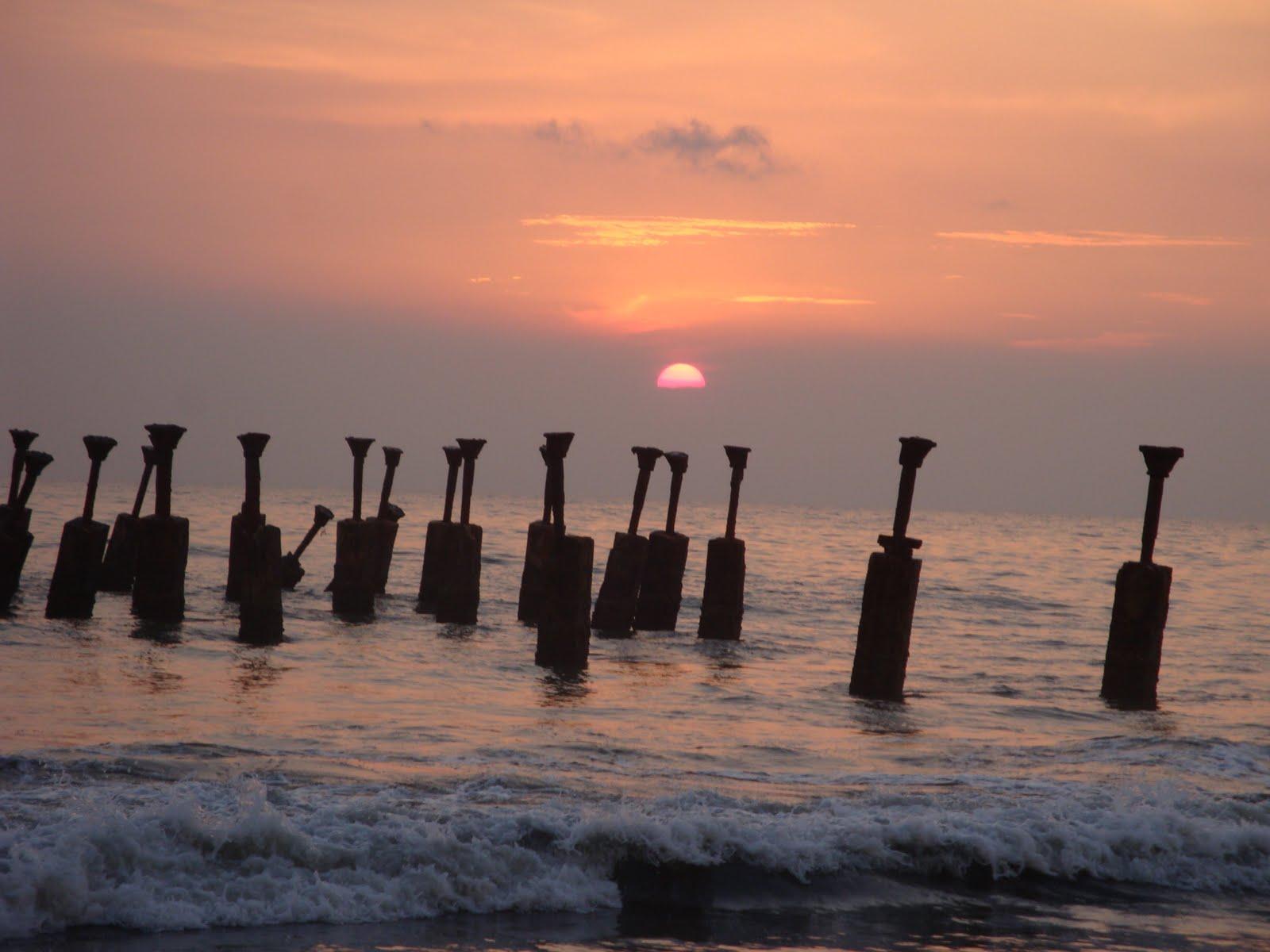 Sunset at Kozhikode Beach