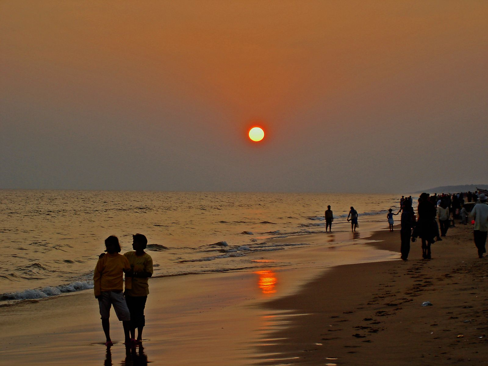 Sunset in Puri Beach
