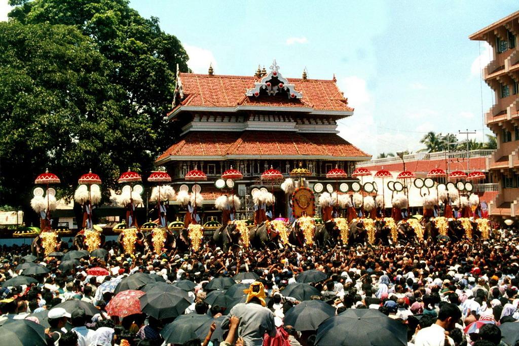 Thrissur Pooram Elephant Festival