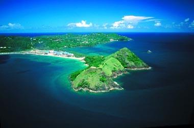 Aerial view Andman beach