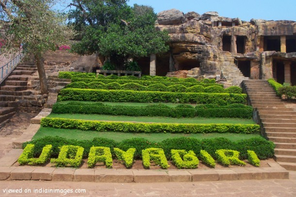Entrance of udayagiri caves in bhubaneshwar