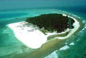 The Agatti island, a small seven kilometer-long island,