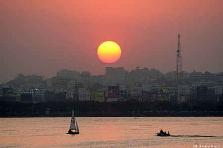 Sunset in hyderabad